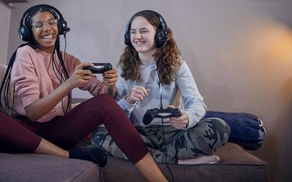 Teenage Girls Gaming