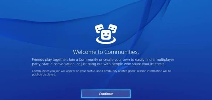 PS4 Communities