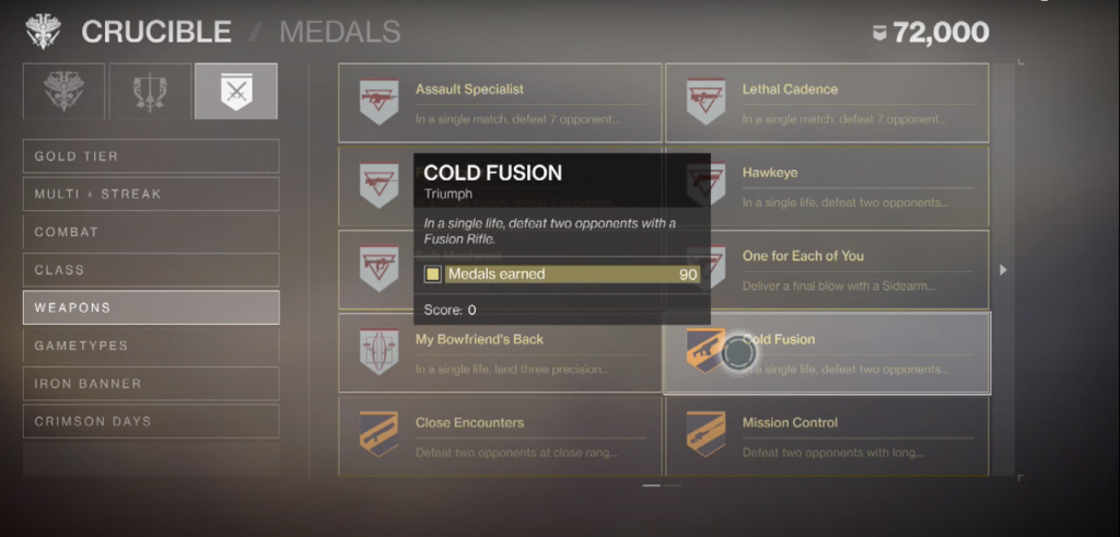 Exploring the crucible medals.
