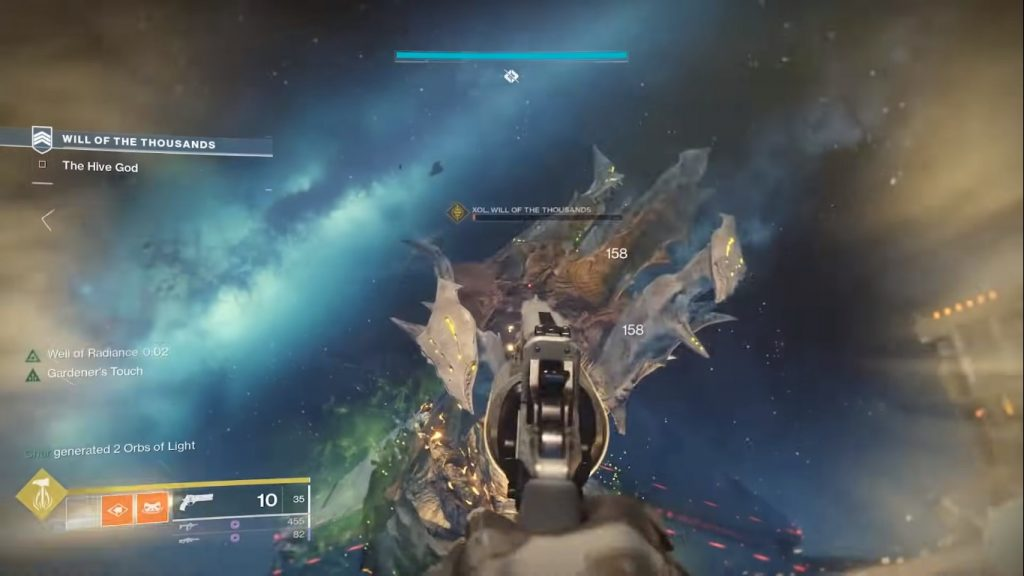 Image showing fight with Xol for objective.