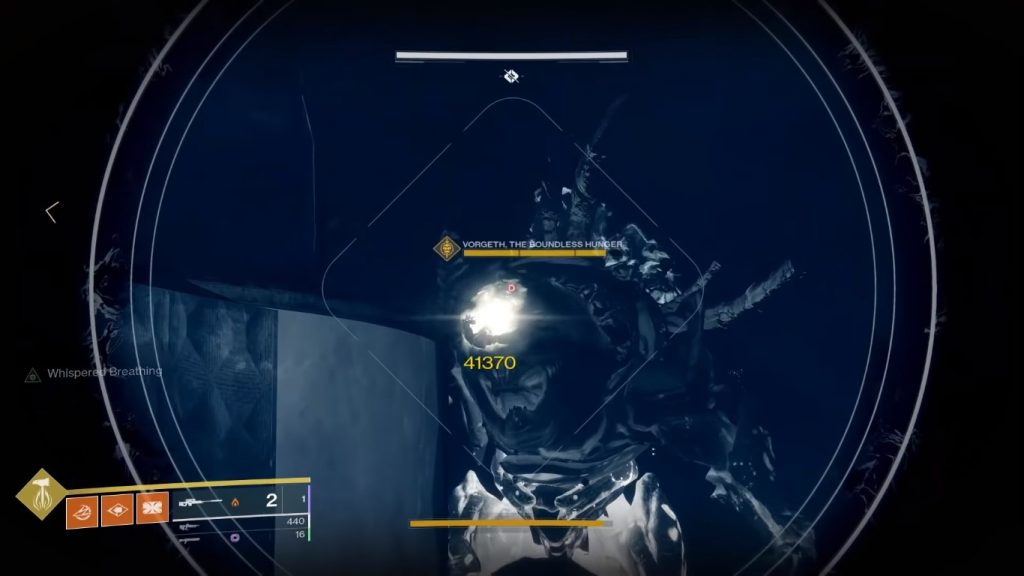 Fighting Vordeth boss in the Shattered Throne dunegon.