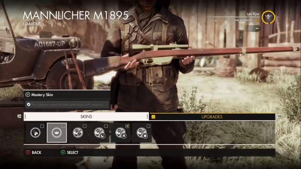 In game menu showing Mannlicher.