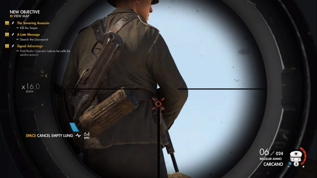 Carcano, one of the best rifles in Sniper Elite 4.