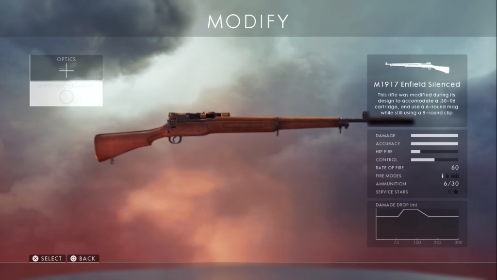 Gun card showing M1917 silenced