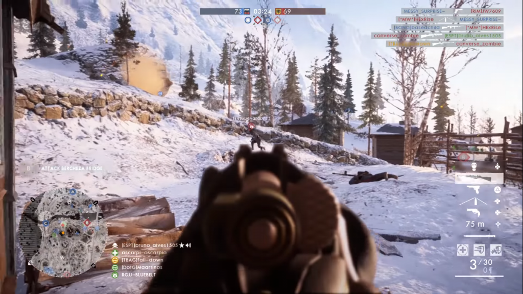 Gameplay with the Carcano
