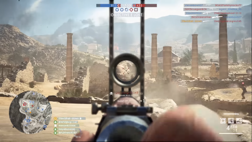 Gameplay with the Gewehr M95