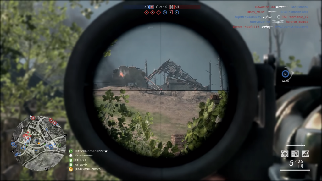 Gameplay with the Gewehr 98