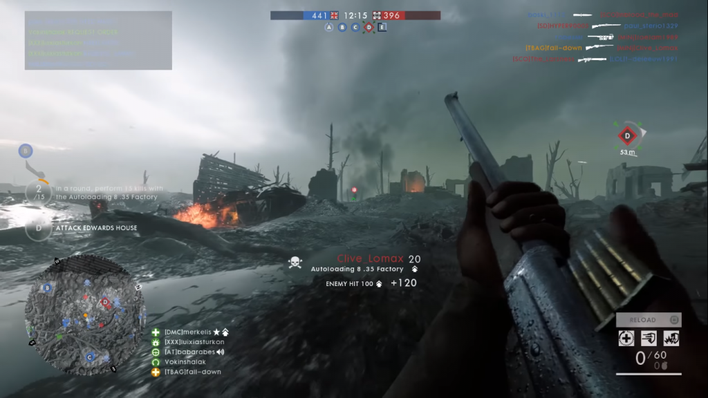 Gameplay showiung the autoloading 8