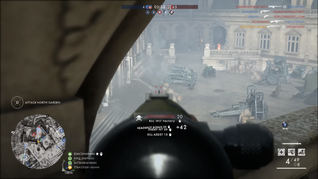 Gampelay with the RSC 1917, one of the best medic rifles in Battlefield 1.