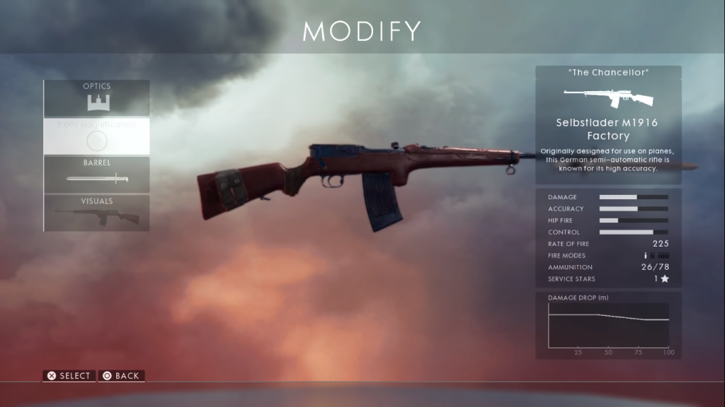 Selbstlader M1916 weapon card. One of the best medic rifles.