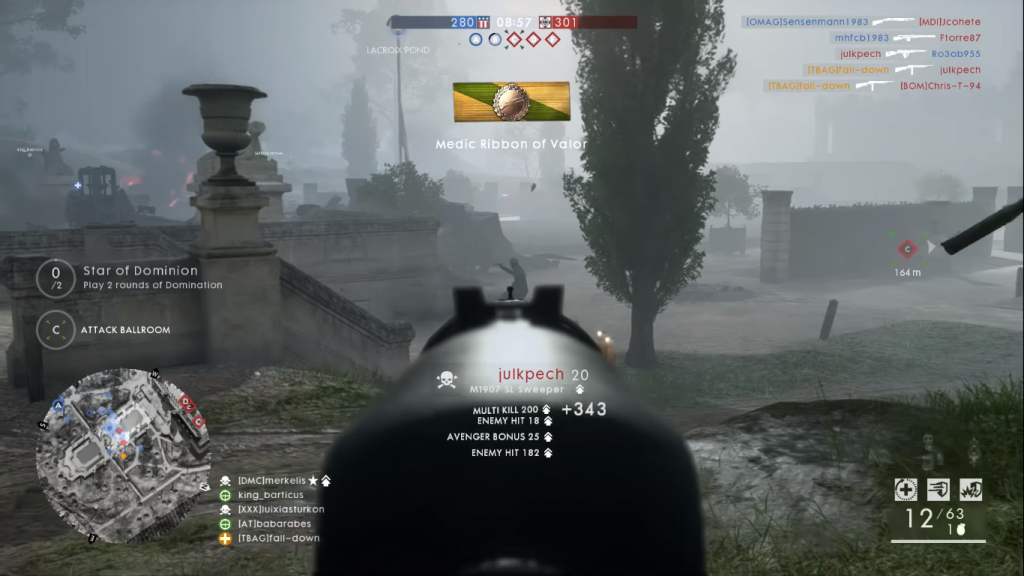 Gameplay with M1907 SL Sweeper.